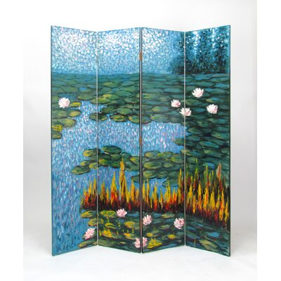 Lily Pads 4 Panel Room Divider