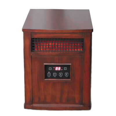 "Portable Electric Infrared Cabinet Heater with Programmable Timer Size: 13.3"" x 17.5"", Finish: Chestnut Oak"