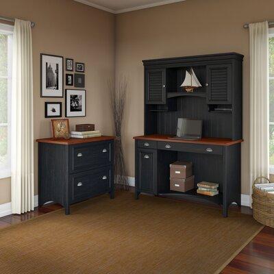Carroll 3 Piece Rectangular Desk Office Suite Color: Antique Black