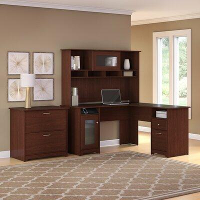 Hillsdale 3 Piece L-Shape Executive Desk Office Suite Color: Harvest Cherry