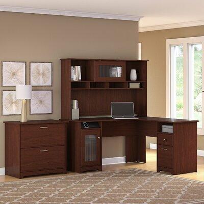 Hillsdale L-Shape Executive Desk Office Suite Color: Harvest Cherry