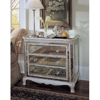 3 Drawer French Mirror Chest