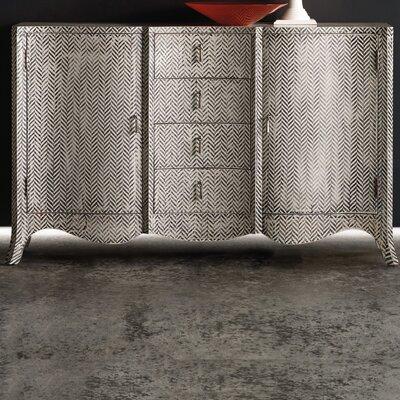 Melange ZigZag Painted Accent Cabinet