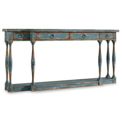Sanctuary Console Table Color: Antique Steel Blue