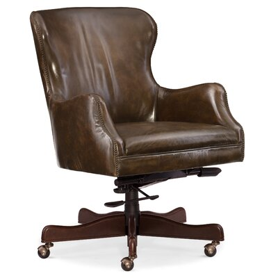 Caleb Home Office Mid-Back Leather Executive Chair