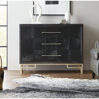 Hair on Hide 3 Drawer Accent Chest
