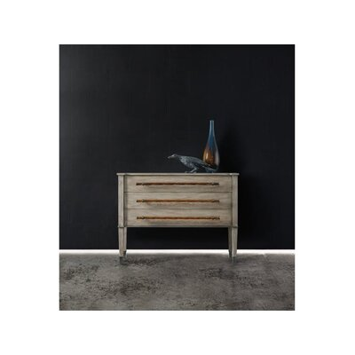 Melange Rowan 3 Drawer Chest Color: Beige
