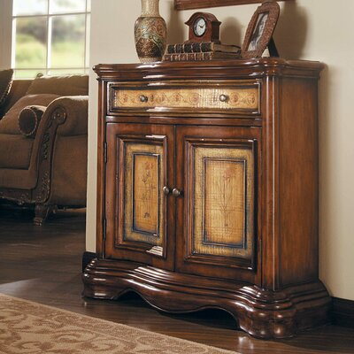 Seven Seas 2 Door / 1 Drawer Shaped Hall Accent Cabinet