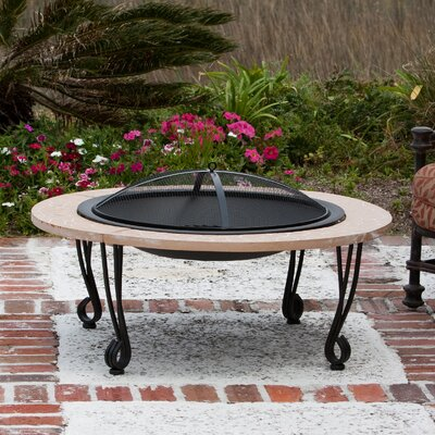 Steel Wood Burning Fire Pit Table