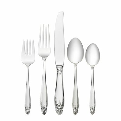 International Silver Sterling Silver Prelude 5 Piece Dinner Flatware Set