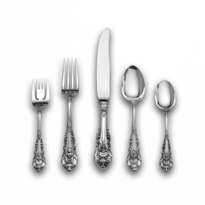 Wallace Sterling Silver Sir Christopher 66 Piece Flatware Set