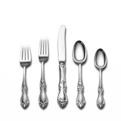 Towle Silversmiths Sterling Silver Queen Elizabeth 46 Piece Flatware and Serving Set