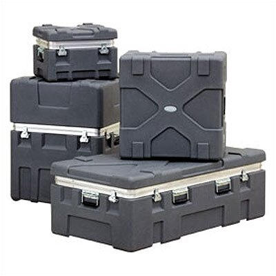 """SKB Cases RX Series: Rugged Roto-X Shipping Foot Locker Case:  17 1/8"""" H x 31 1/4"""" W x 17 1/4"""" D (outside)"""