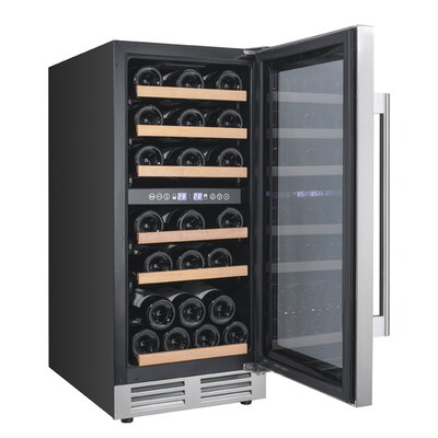28 Bottle Designer Series Dual Zone Freestanding Wine Cooler