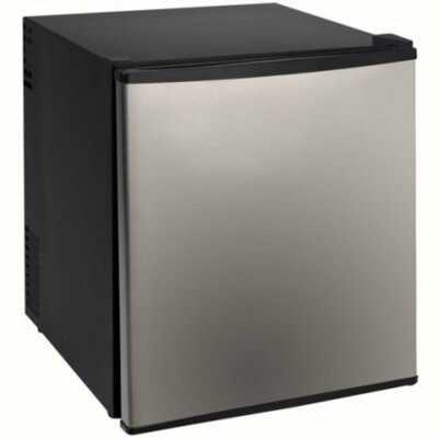 1.7 cu. ft. Compact Refrigerator Color: Black with Stainless Steel Door