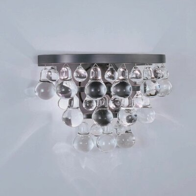Robert Abbey Bling Crystal Drop 2 Light Wall Sconce