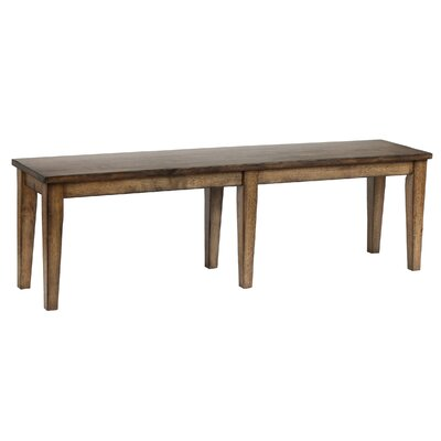 Slyvia Wood Bench Color: Rustic Brown