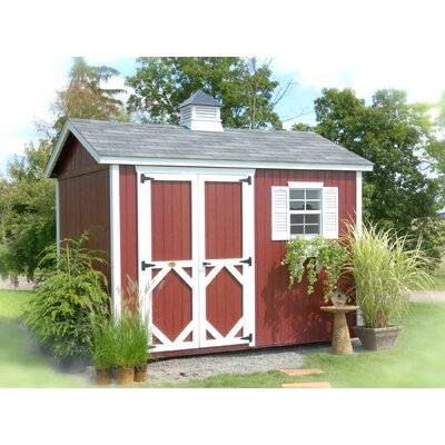 Classic 10 ft. W x 10 ft. D Wooden Storage Shed Size: 12' W x 12' D