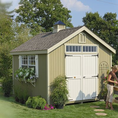 Colonial Williamsburg Wooden Storage Shed Size: 8' x 10'