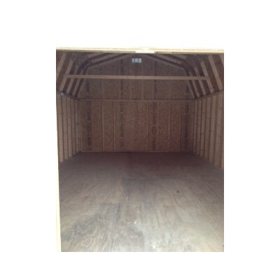 Classic Gambrel 14 ft. W x 18 ft. D Wooden Storage Shed Size: 16' W x 20' D