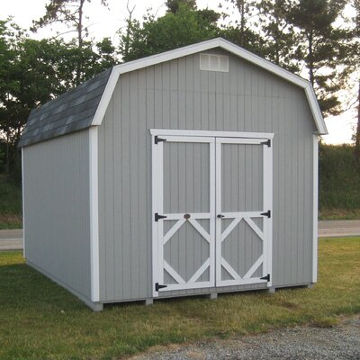 Classic 10 ft. W x 10 ft. D Wooden Storage Shed Size: 8' W x 12' D