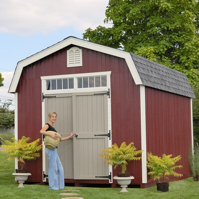 Colonial bury 10 ft. W x 10 ft. D Wooden Storage Shed Size: 12' W x 18' D