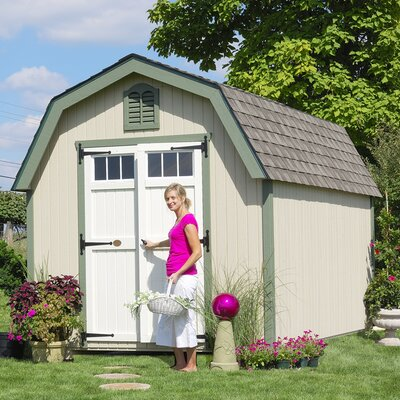 Colonial Greenfield 10 ft. W x 10 ft. D Wooden Storage Shed Size: 10' W x 10' D