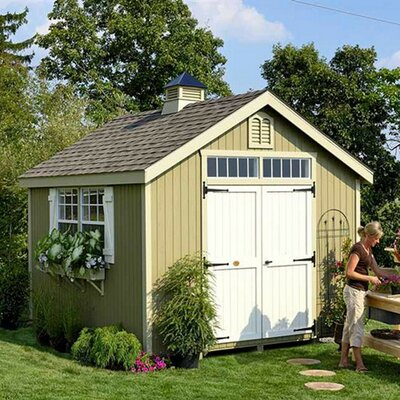 Colonial Williamsburg Precut Wooden Storage Shed Size: 10' x 12'