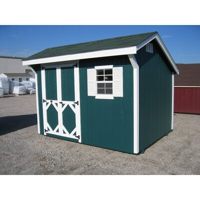 Classic Saltbox Wooden Storage Shed Size: 12' W x 16' D
