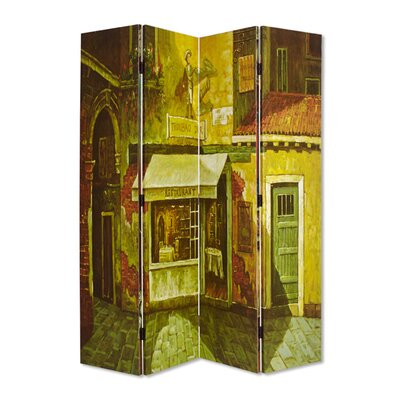 French 4 Panel Room Divider
