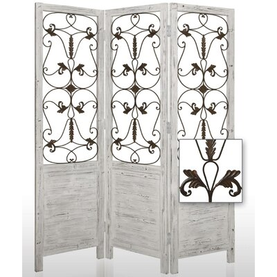 Hampton 3 Panel Room Divider Finish: White