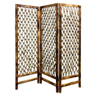 Rope Screen 3 Panel Room Divider