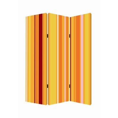 Deep Saffron 3 Panel Room Divider
