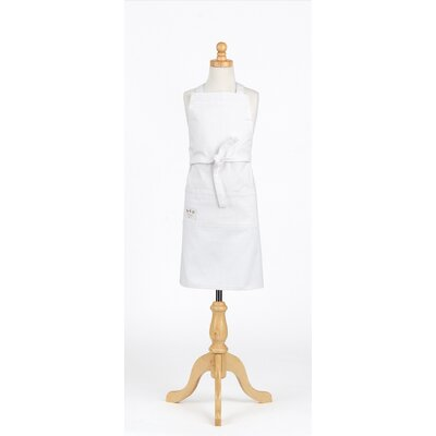Vintage Draper Denim Adult and Kids Apron Set Color: White