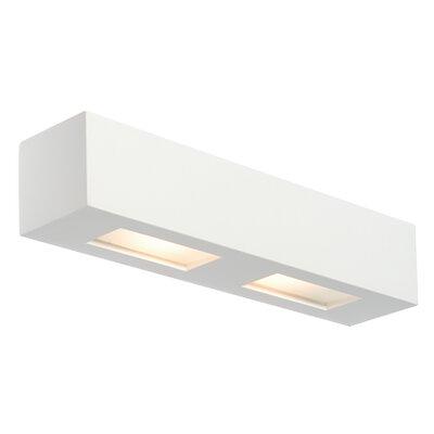 Saxby Lighting Box 2 Light Flush Wall Light