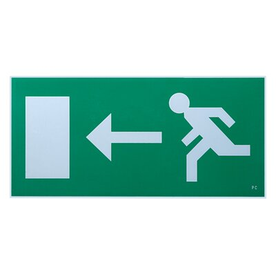 Saxby Lighting Exodus 18cm Emergency Exit Left Sign Accessory in Green