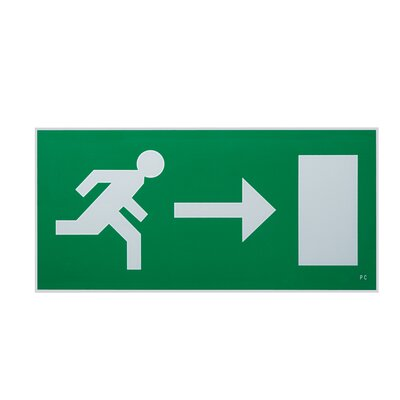 Saxby Lighting Exodus 18cm Emergency Exit Right Sign Accessory in Green