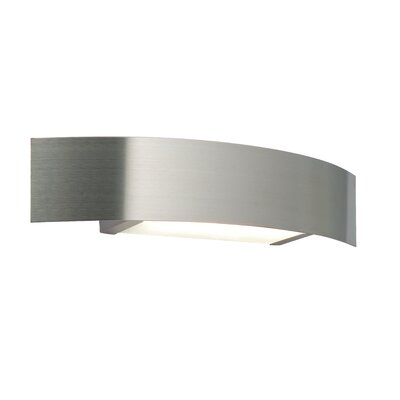 Saxby Lighting Curve One Light Low Energy Wall Flush Light in Brushed Stainless Steel