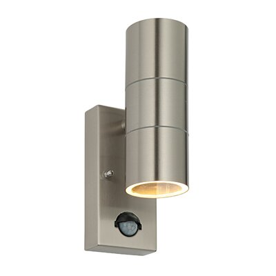 Saxby Lighting Palin 2 Light Flush Wall Light in Brushed Stainless Steel