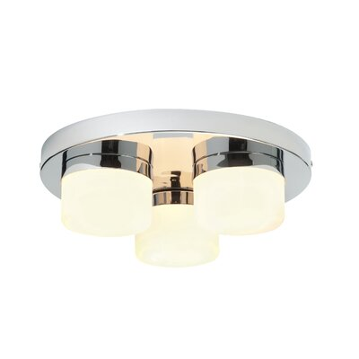 Saxby Lighting Pure 3 Light Flush Ceiling Light