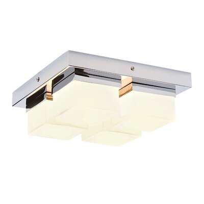 Saxby Lighting Square 4 Light Flush Ceiling Light