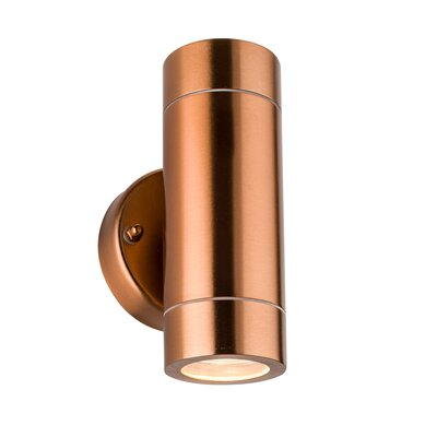 Saxby Lighting Palin 2 Light Flush Wall Light in Copper Tinted Lacquer