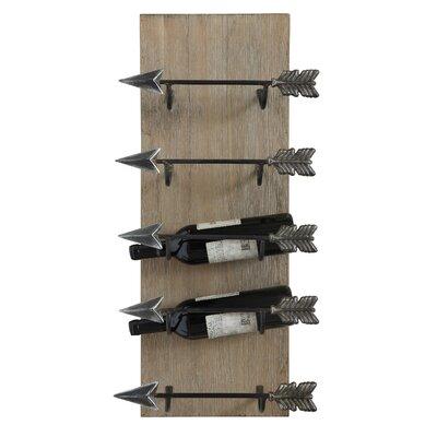 Louie 5 Bottle Wall Mounted Wine Rack