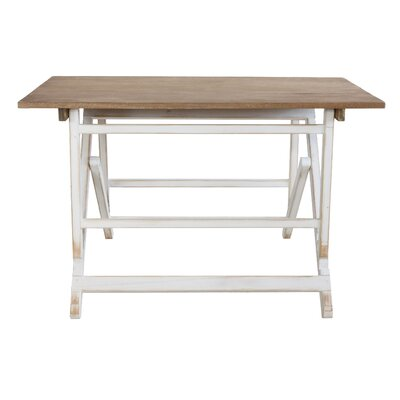 Wabansia Pine Wood Adjustable Console Table