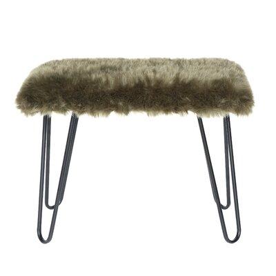 Bradley Junction Metal Bench Upholstery: Green