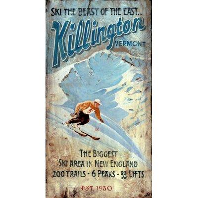 Vintage Signs Killington Vintage Advertisement Plaque