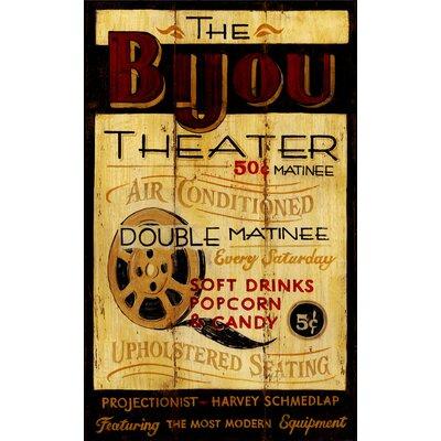 Vintage Signs Bijou Theatre Vintage Advertisement Plaque