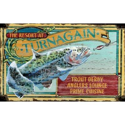 Vintage Signs Trout Resort Vintage Advertisement Plaque