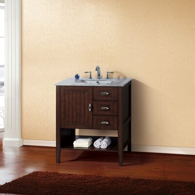 "29"" Single Bathroom Vanity Base Finish: Sable Walnut"