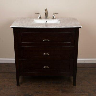 """35"""" Single Bathroom Vanity Base Base Finish: Sable Walnut"""
